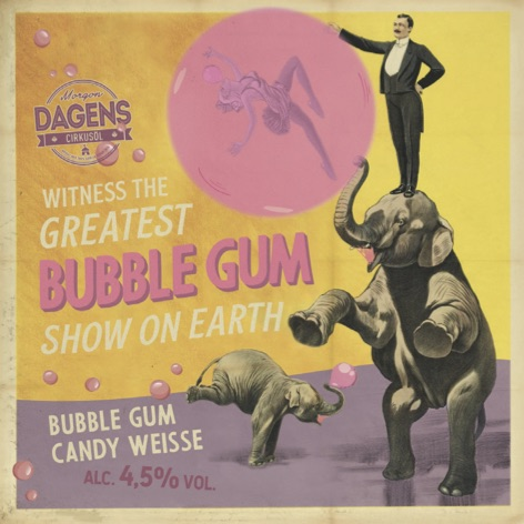 Bubble Gum Candy Weisse